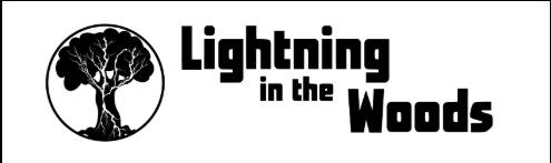 lightening in the woods